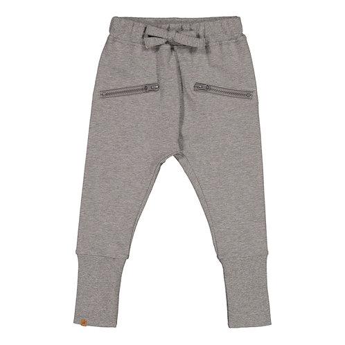 Zipper housut, grey melange