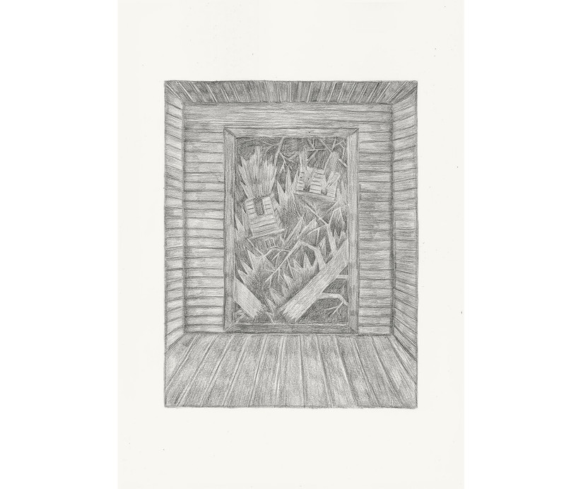 There is a Storm Outside, 2013. Pencils on paper, 59.4 × 42 cm