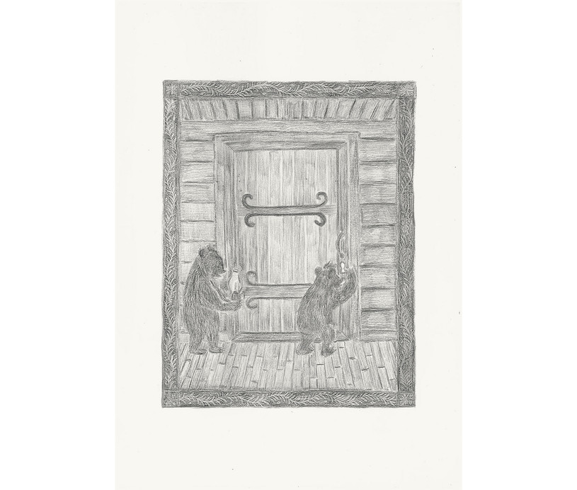 Two Bears, 2012. Pencils on paper, 42 × 29.7 cm