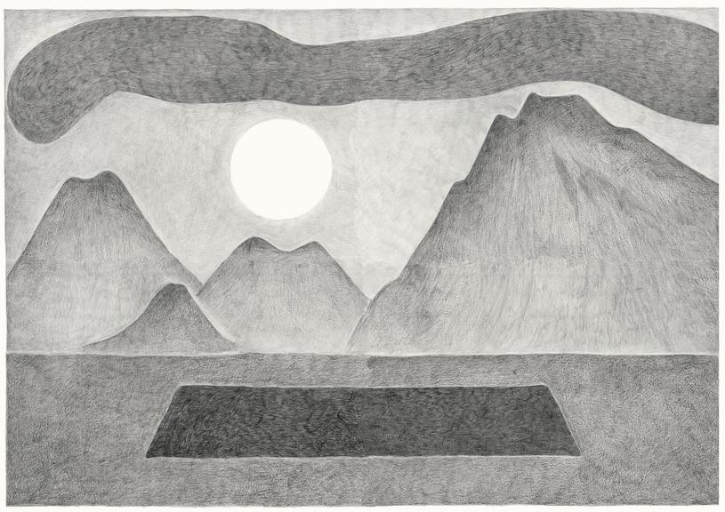 Hole, 2013. Pencils on paper, 94 × 118 cm