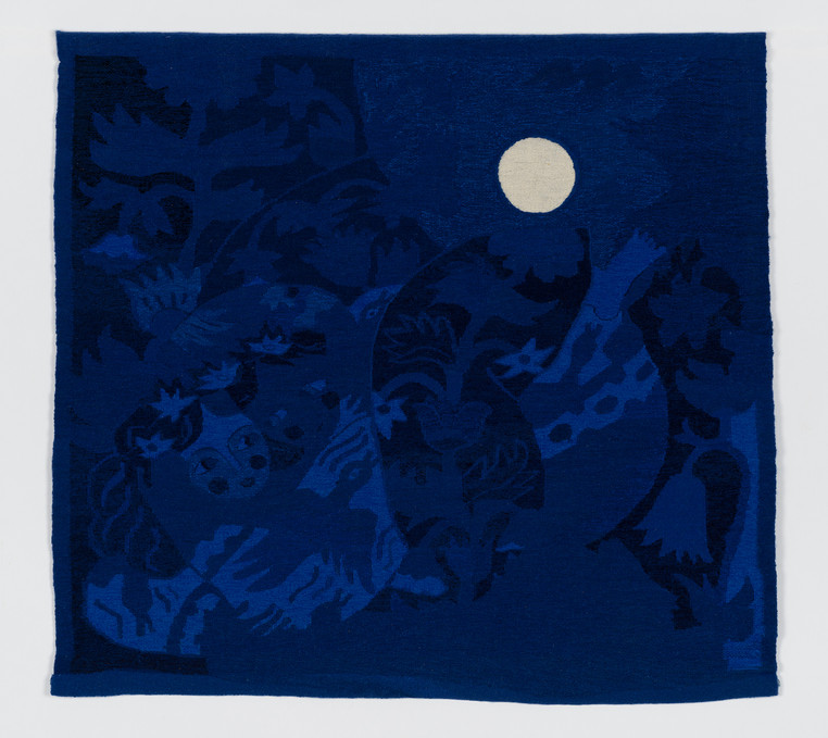 The Lovers, Part III, 2015-6. Handmade woven tapestries, cotton, wool, 84 x 90 cm