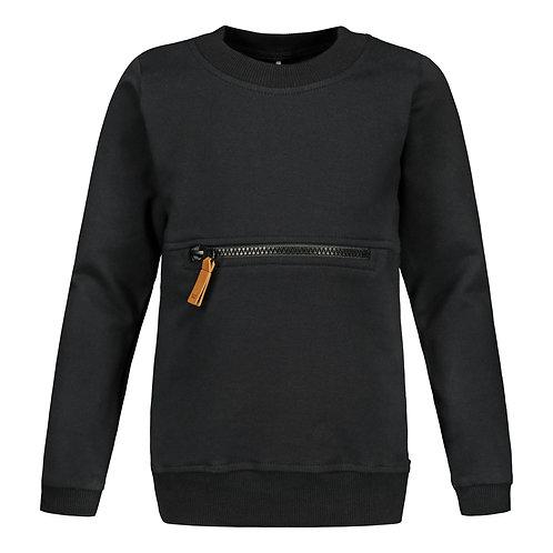 Zipper paita, black