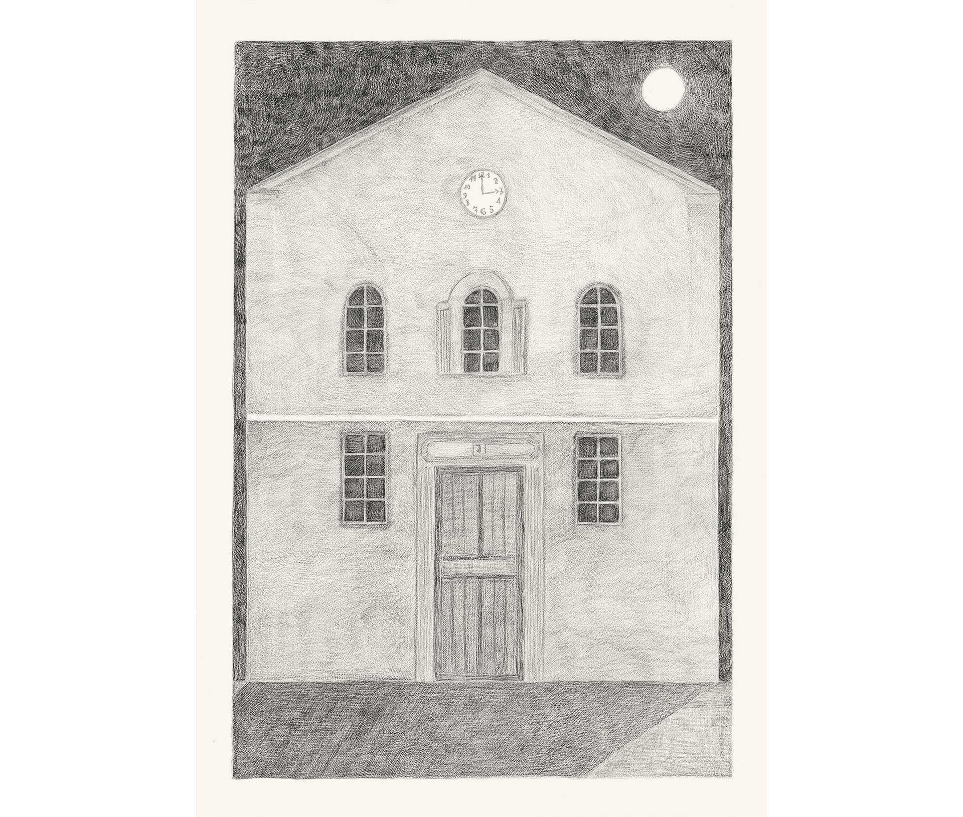 House Number Seven, 2012. Pencils on paper, 42 × 29.7 cm