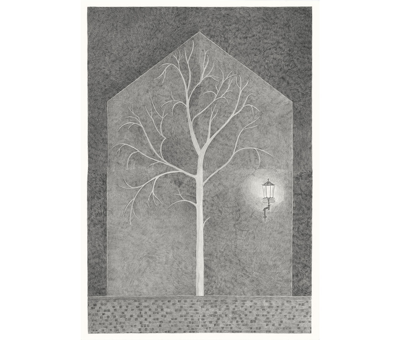 House in the North, 2013. Pencils on paper, 118 × 94 cm