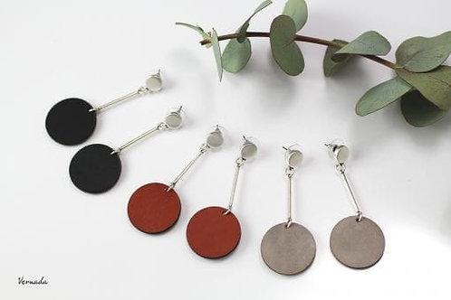 Vernada® Design -korvakorut, sileä YMPYRÄ, pitkä, musta