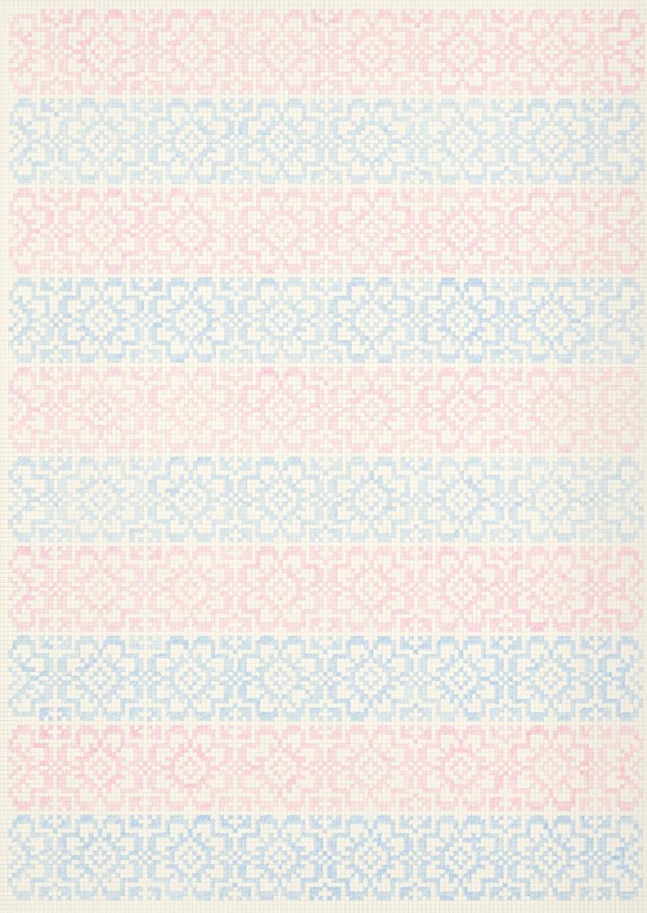 Flower Field Ⅹ, 2018-19. Pencils on paper, 102 × 72 cm