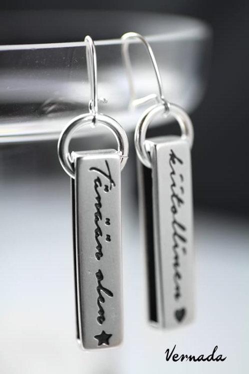 Vernada Design 'Tänään olen KIITOLLINEN' -korvakorut