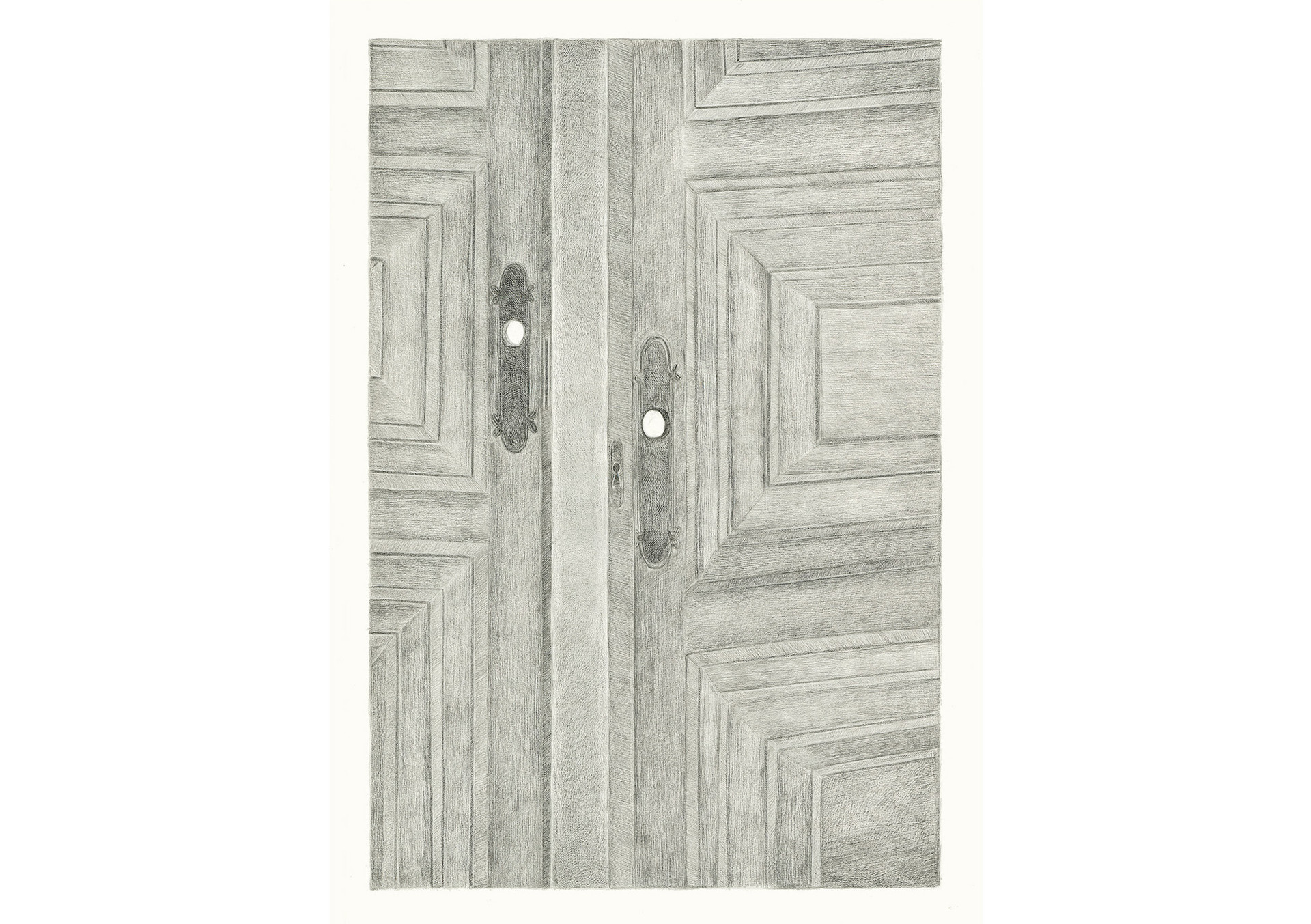 There are no Locks in this House, 2013. Pencils on paper, 59.4 × 42 cm