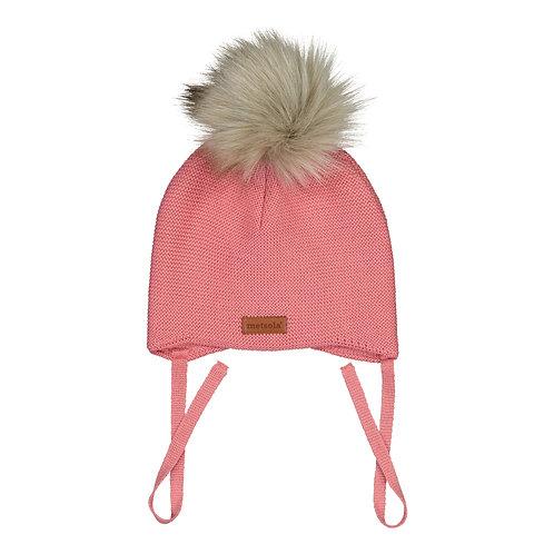 Merinowool Baby Beanie Fur, 1 pompom, strawberry ice