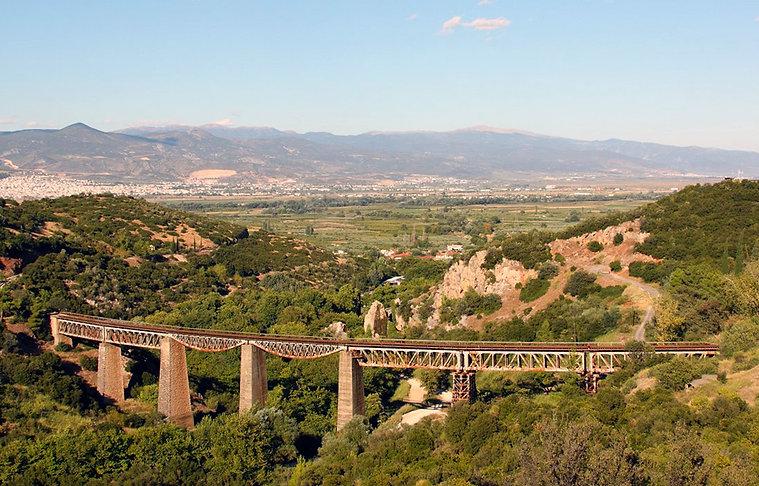 Γέφυρα Γοργοπόταμου general view.