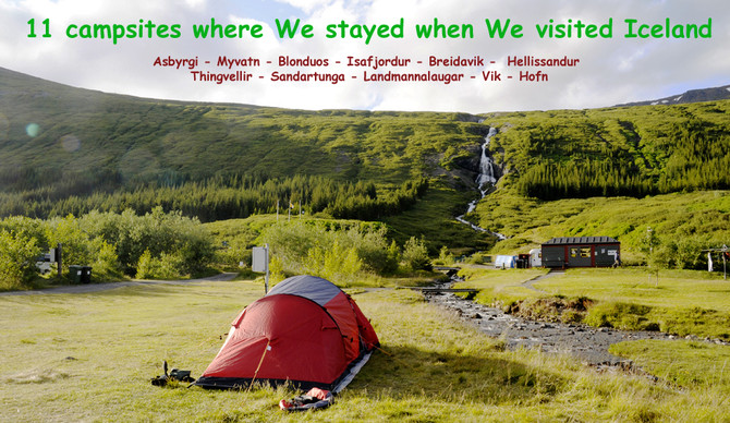 campsites in Iceland
