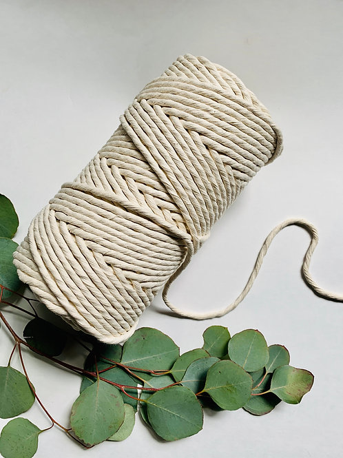 Single strand cotton rope