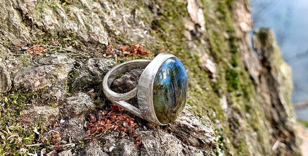 Labradorite Sterling Silver Rings Size 6.5