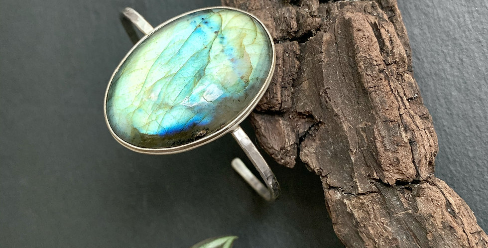 Labradorite Sterling Silver Cuff