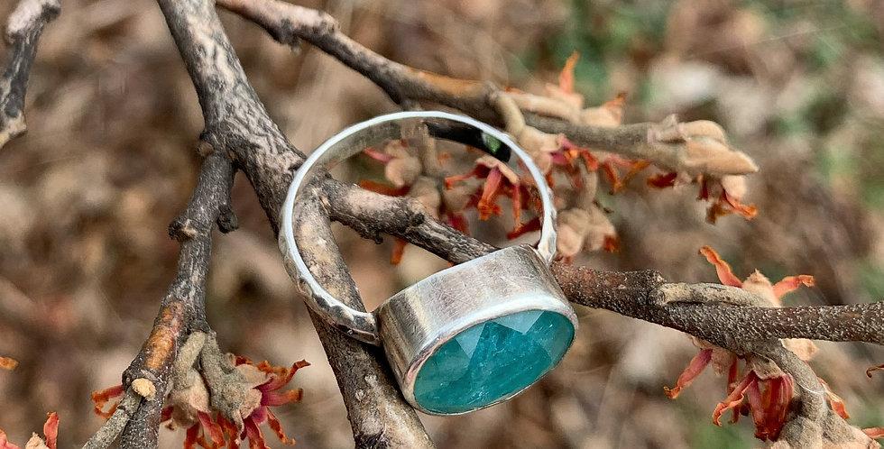 Sterling Silver Grandidierite Ring Size 8