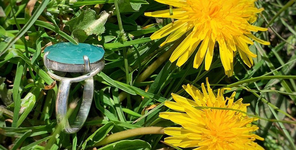 Sterling Silver Grandidierite Ring Size 7.5