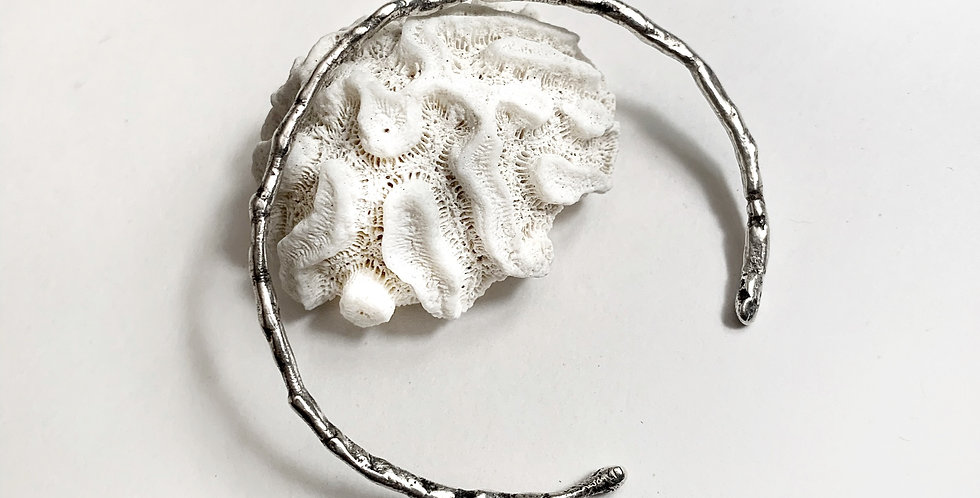 Sterling Silver Raw Look Textured cuffs