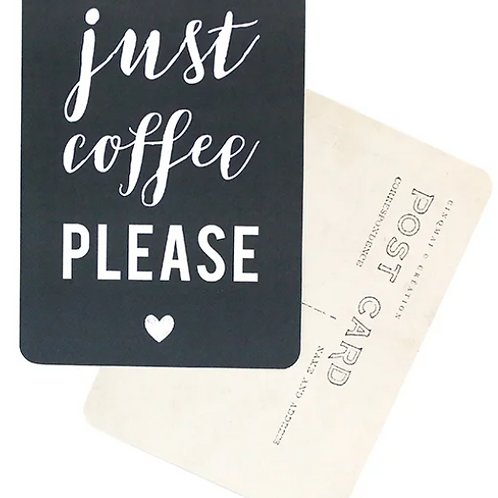 Carte postale Coffee