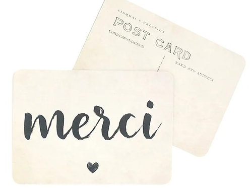 Carte postale Merci