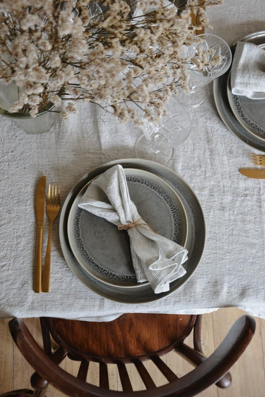 Nappe et serviettes en lin de Cyrillus
