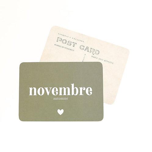 Carte Novembre