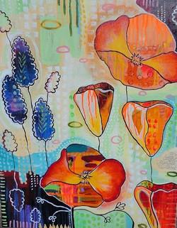 """California Poppies & Lavender"""