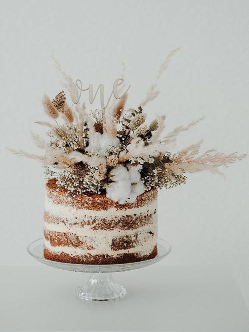 caketopper one birthday geburtstag eins baby kinder Torte Kuchen wooden decor holz hochzeit schriftzug geburt