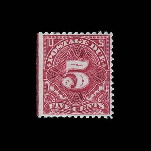 Postage Due, 1895, 5¢ deep claret (Scott J41)