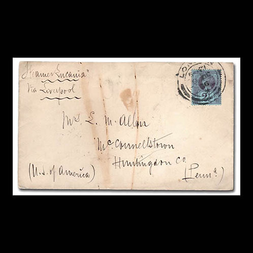 1896, cover from London to Pennsylvania, U.S.