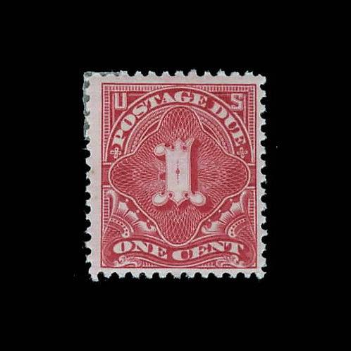 Postage Due, 1894, 1¢ deep claret (Scott J31)