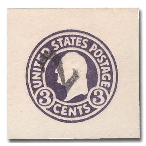 Envelope, 1920, 2¢ on 3¢ dark violet, die 5 (Scott U479),
