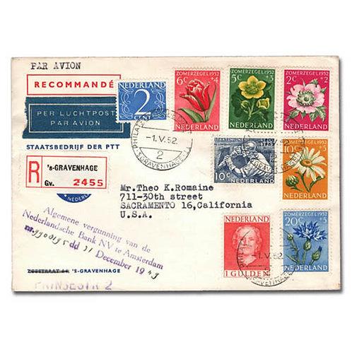 Netherlands,1952, Summer Welfare issue complete