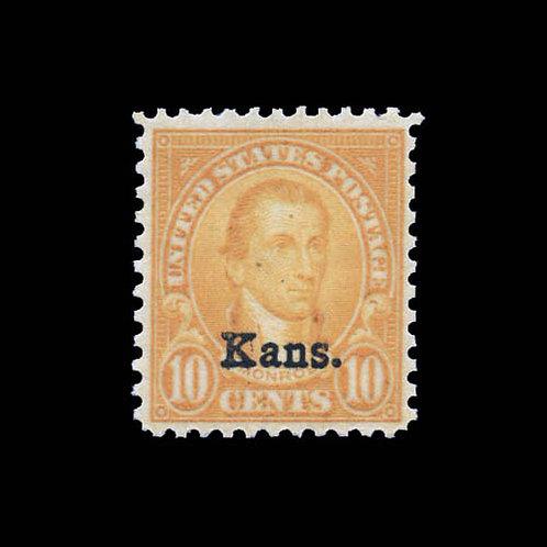 1929, 10¢ Kans. (Scott 668)