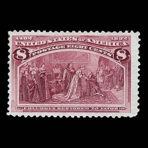 1893, 8¢ Columbian (Scott 236)