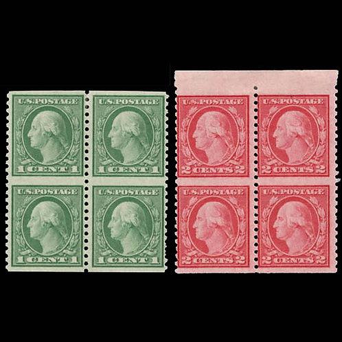 (Scott 538a, 540a),Blocks of 4