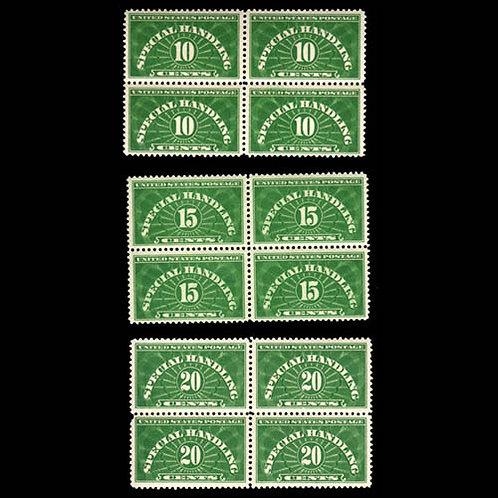 Special Handling, 1925-40, 10¢ to 20¢ (Scott QE1-QE3),