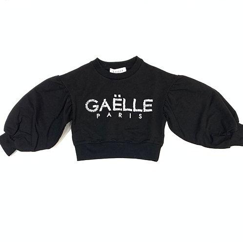 Felpa Cropped Gaelle con logo pietre