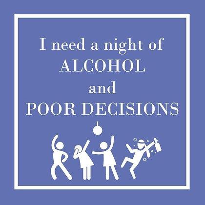 Napkins - Night of alcohol