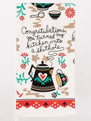 Dish Towel - Congratulations.