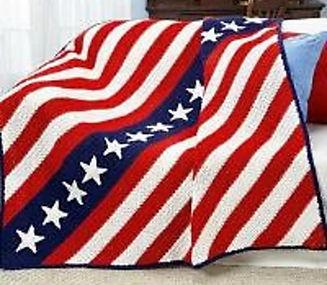 Stas and stripes American flag afghan