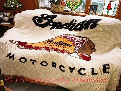 Indian Motorcycle Logo Blanket