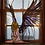 Thumbnail: Bowing angel stained glass