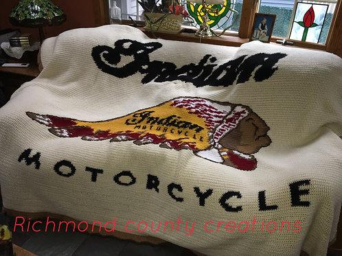 Indian motorcycle blanket
