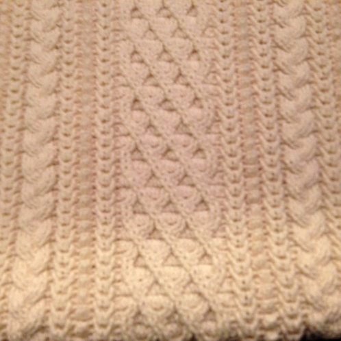 Baby Aran Irish crib blanket