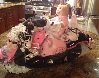 girls Harley Davidson  diaper motorcyle
