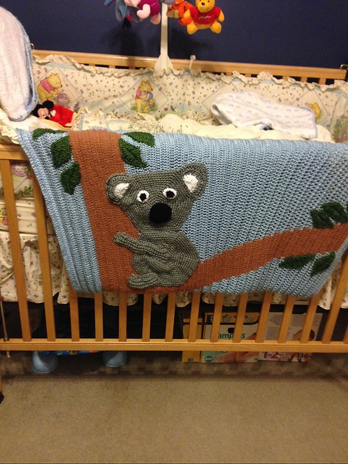 Koala bear toddler blanket