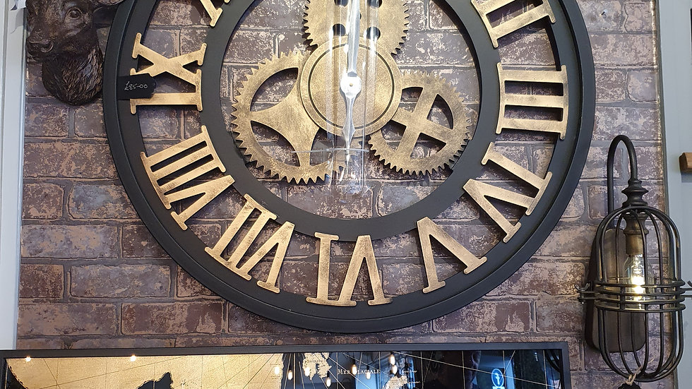 Large Metal Clock 6768