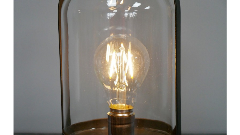 Industrial Style Battery Glass Lamp