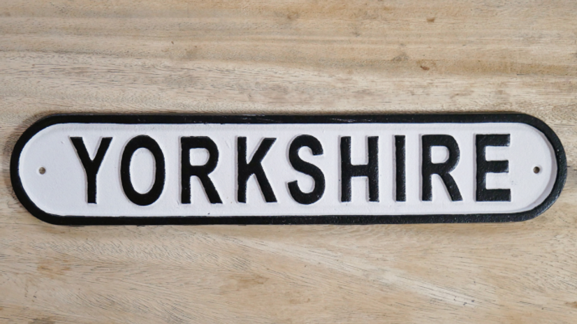 YORKSHIRE SIGN IRON 6565