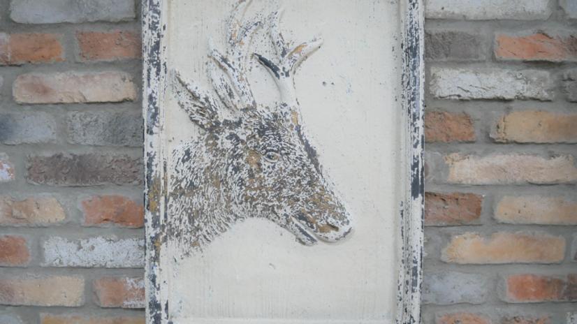 Rustic Deer Frame  Print